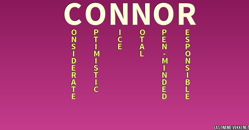 Last name meaning - connor
