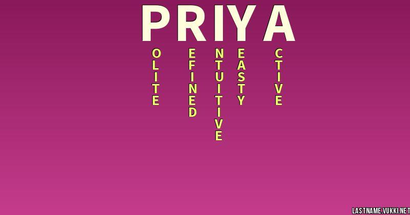 11++ Priya name of meaning ideas