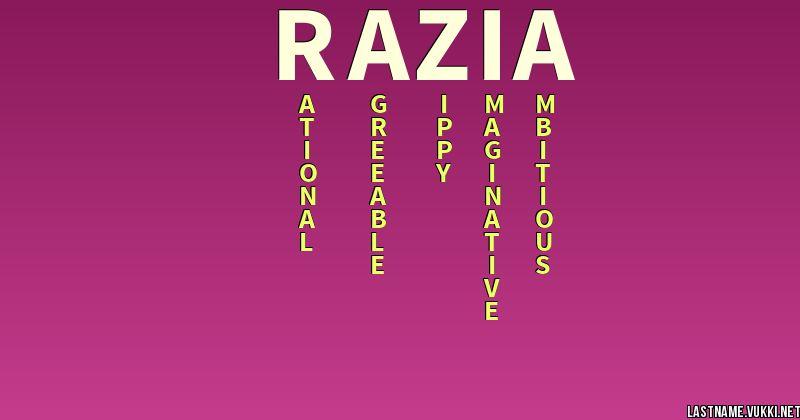 Last name meaning - razia